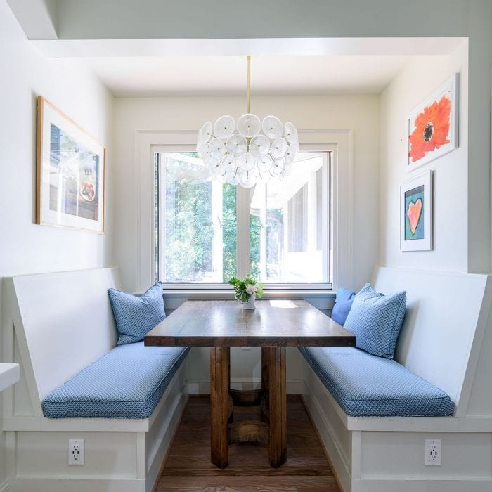 Breakfast dining area designed by Alexis Taylor Interiors