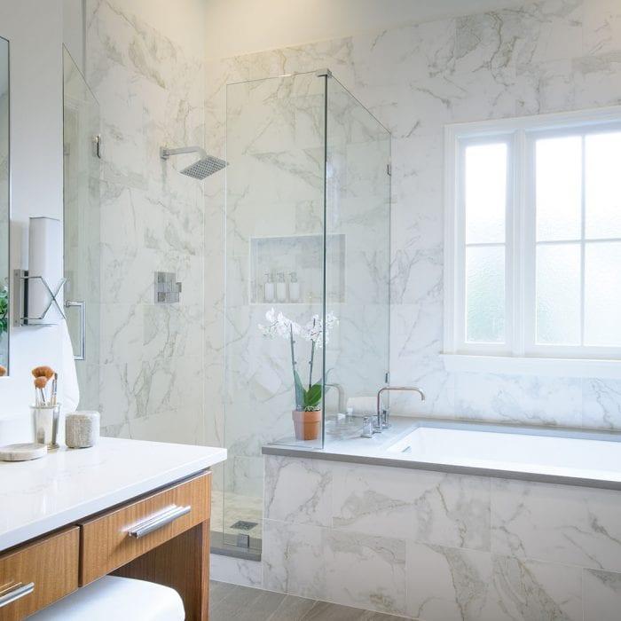 Bathroom designed by Alexis Taylor Interiors